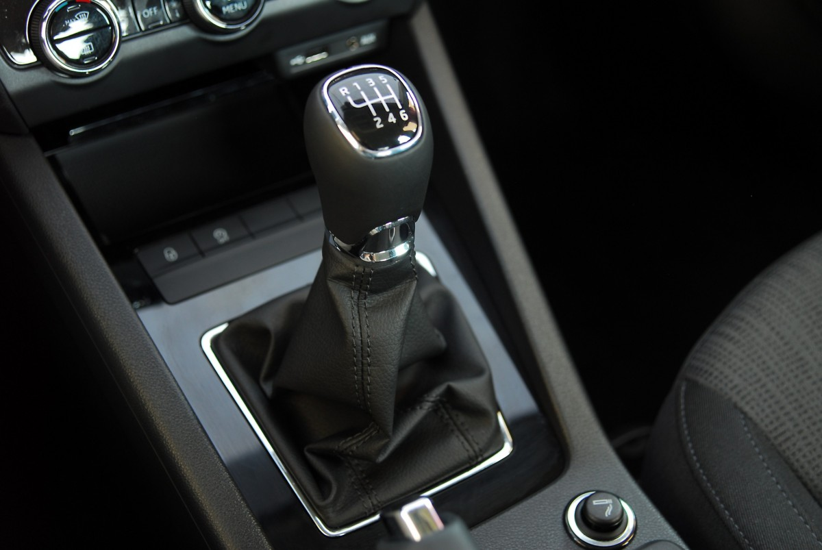 gear shift on a vehicle